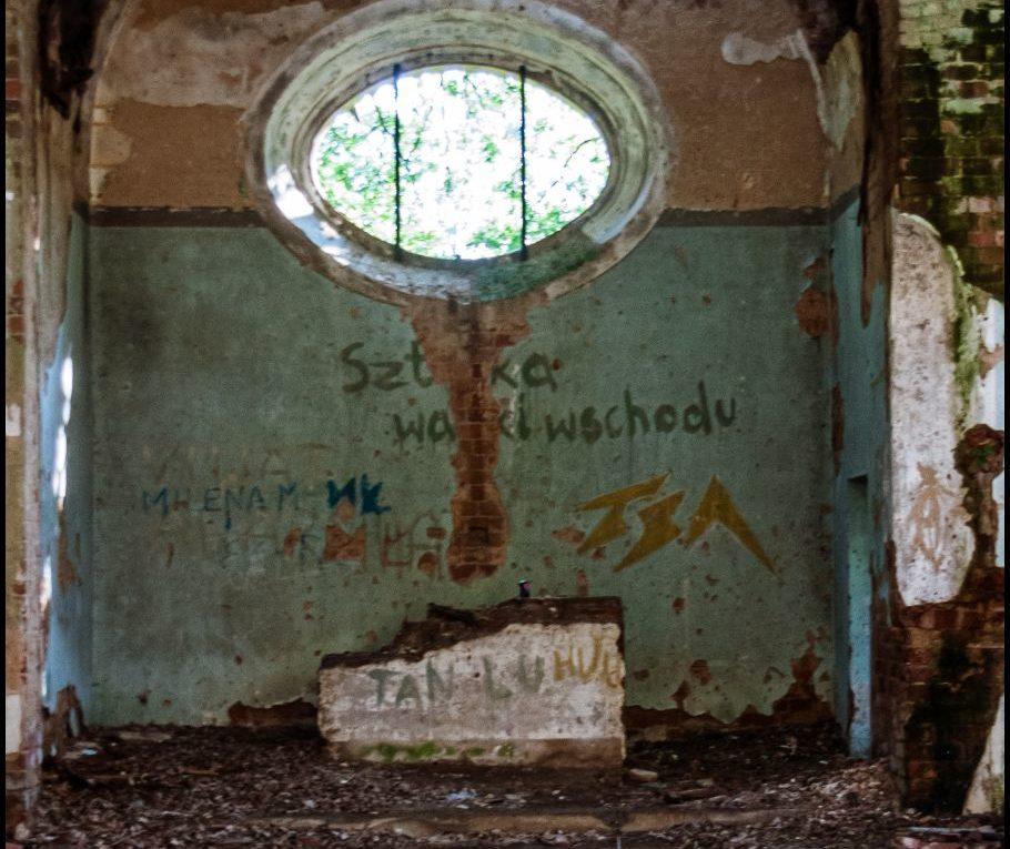 Dawny kościół poewangelicki. Niemczyn wieś pałucka, wielkopolska, powiat wągrowiecki, gmina Damasławek