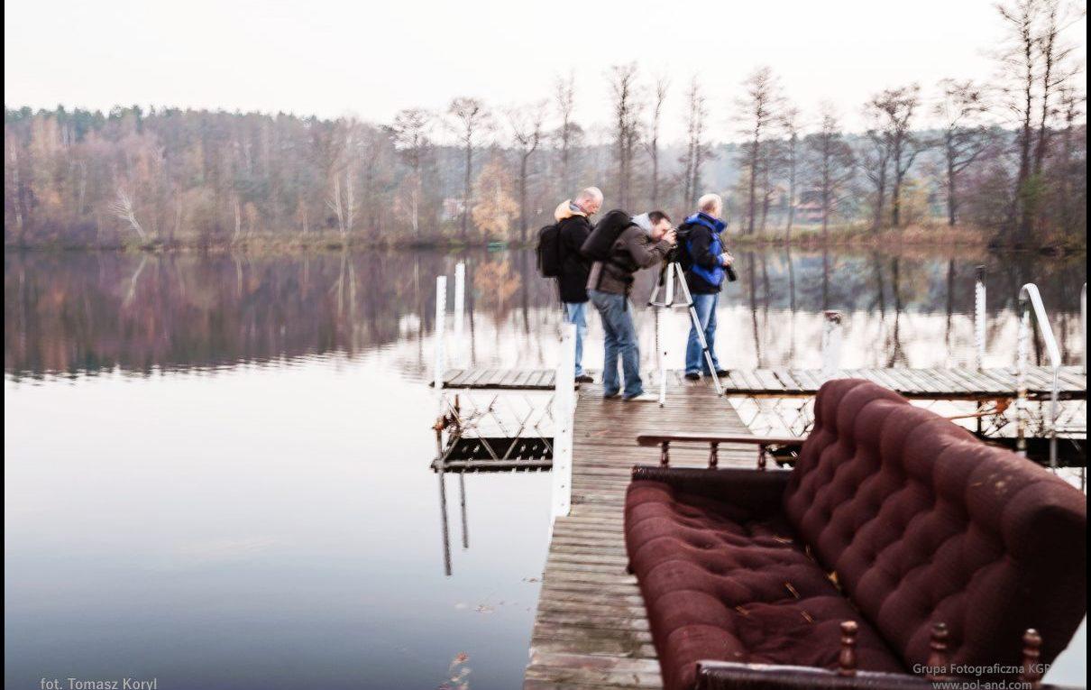 Jezioro Chojno - plener nad wodą.
