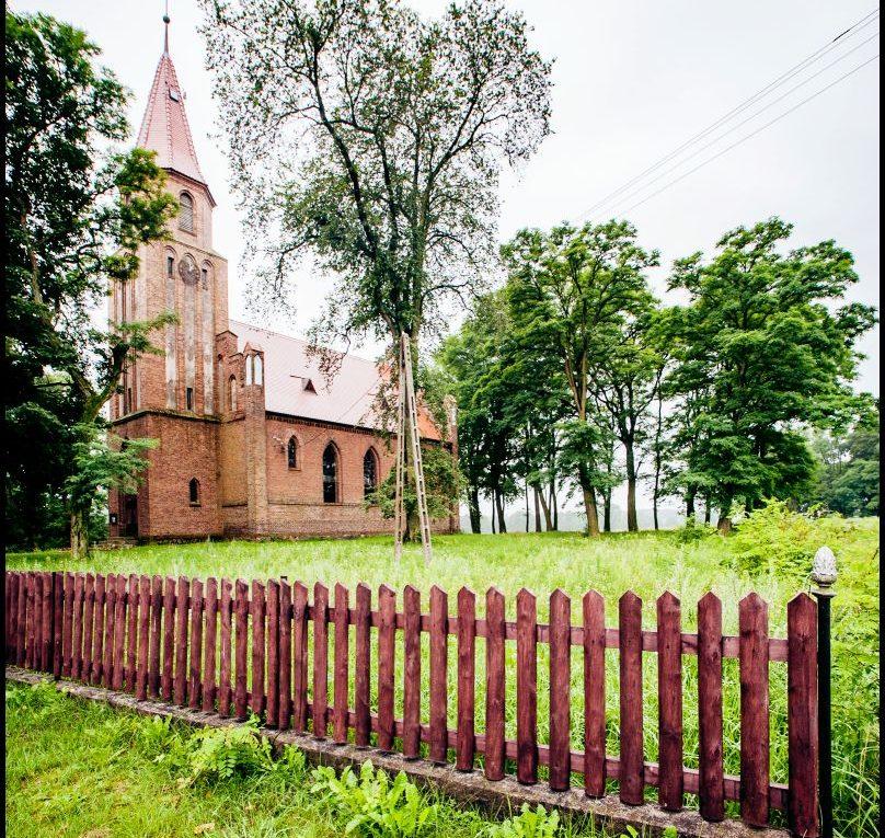 kościół ewangelicki, ob. rzymskokatolicki filialny pw. Najświętszego Serca Pana Jezusa